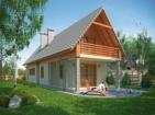 Проект узкого дома с мансардой и гаражом
